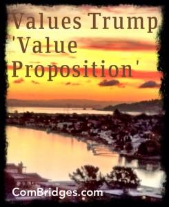 Values Trump Values Proposition