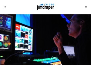 New website home page for video director, Jim Draper