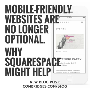 Mobile-friendly websites are no longer
