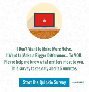 Services Survey welcome page