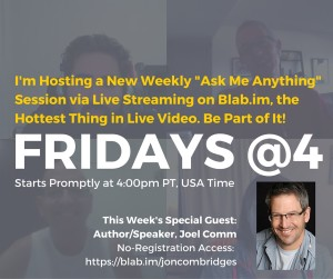 I created this graphic to promote last Friday's Blab session and shared across all of my social media accounts.