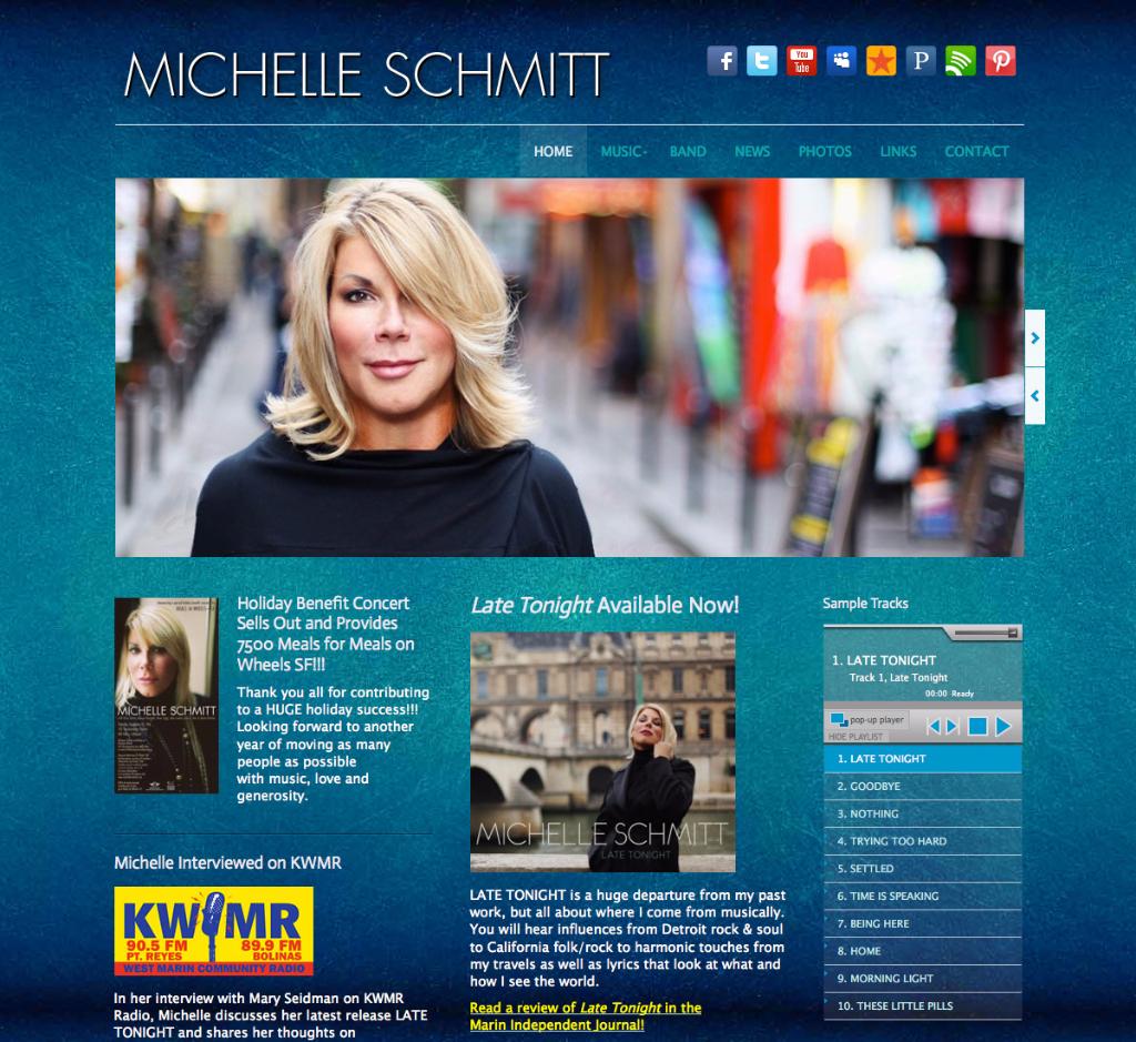 Michelle Schmitt - Singer, songwriter.