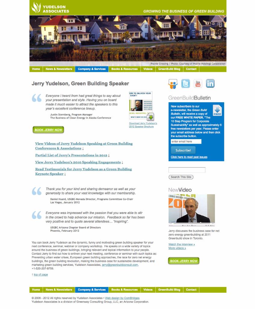 Wordpress Website Design Portfolio - ComBridges