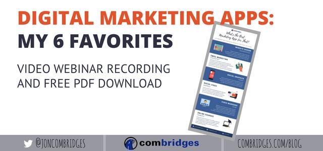 My 6 Favorite Digital Marketing Apps  Webinar Video + Free PDF